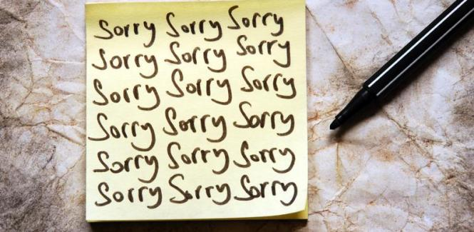 Say You Are Sorry RKA ink Web Design with Heart