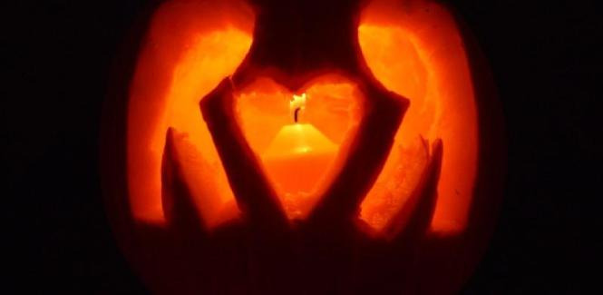 Carve a Pumpkin RKA ink Web Design with Heart