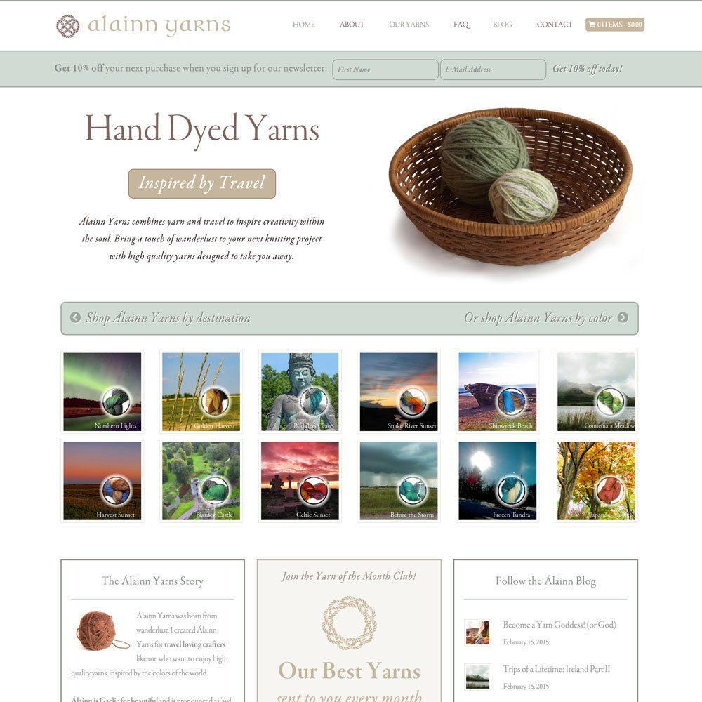 Alainn-Yarns-WordPress-Web-Design-RKA-ink