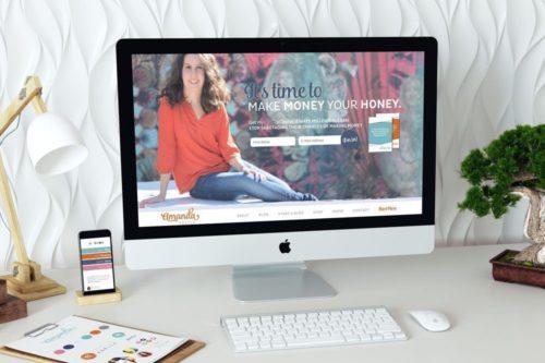 Custom WordPress Web Design for Amanda Abella by RKA ink
