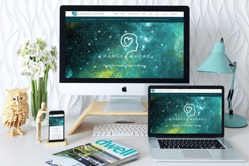 Custom WordPress Web Design for Change Ahead by RKA ink