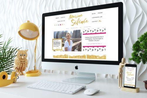 Custom WordPress Web Design for Marine Selenee by RKA ink