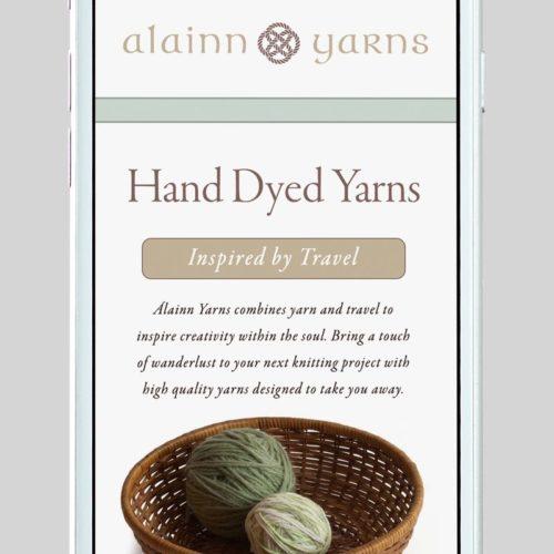 Alainn Yarns Custom WordPress Web Design by RKA ink