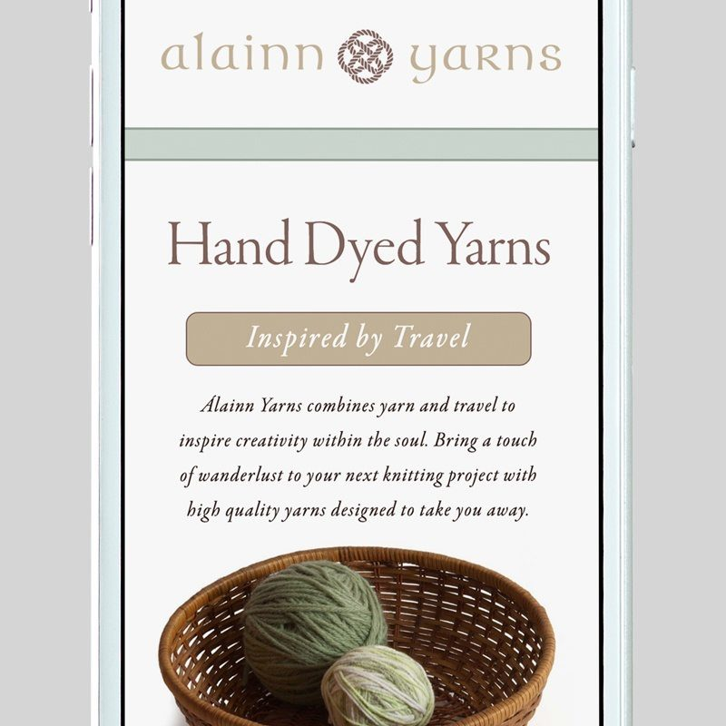 Alainn Yarns Custom WordPress Web Design by RKA ink