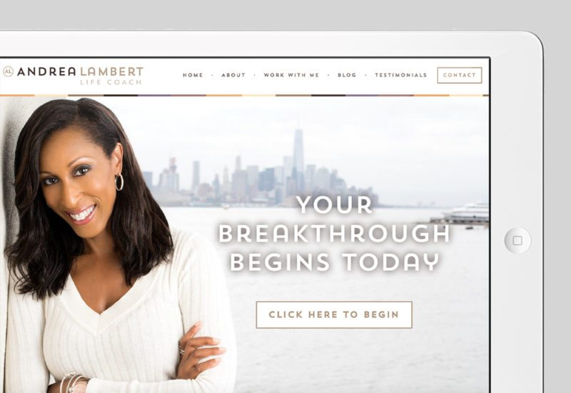 Andrea Lambert Custom WordPress Web Design by RKA ink