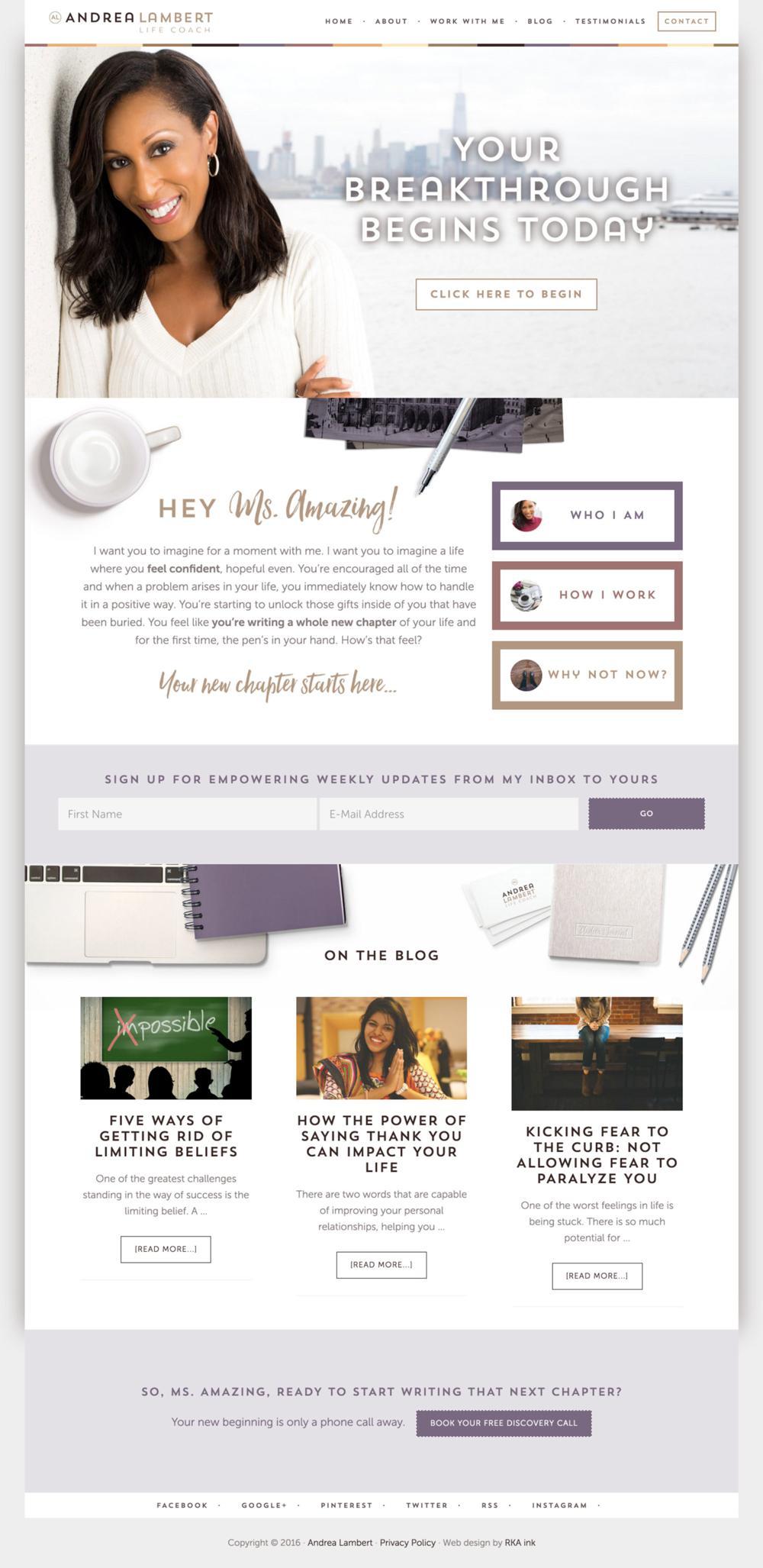Andrea-Lambert-Life-Coach-WordPress-Web-Design-RKA-ink