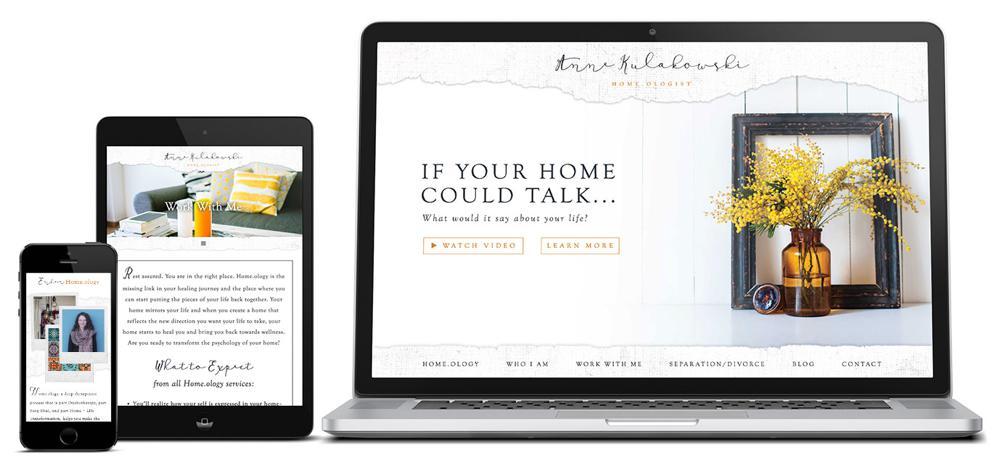 Anne Kulakowski Custom WordPress Web Design by RKA ink