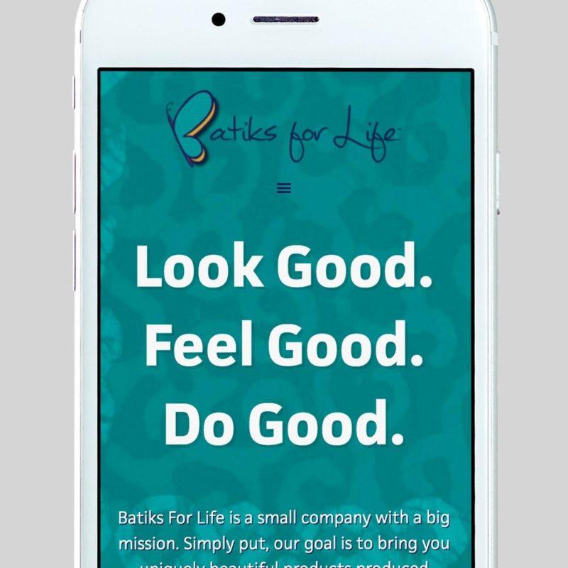 Batiks For Life Custom WordPress Web Design by RKA ink