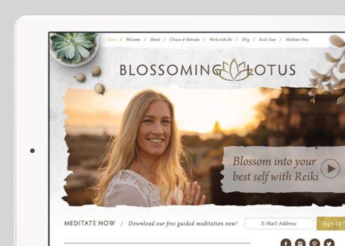 Blossoming Lotus Reiki Custom WordPress Web Design by RKA ink