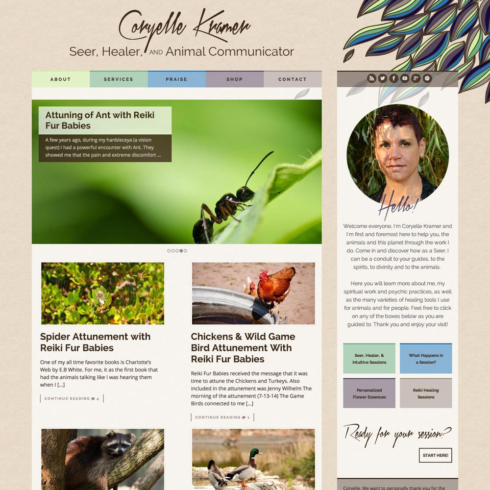 Coryelle Kramer Custom WordPress Web Design RKA ink