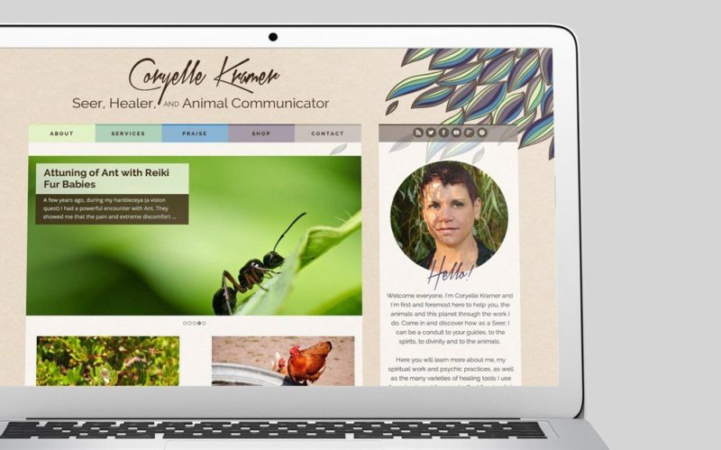 Coryelle Kramer Custom WordPress Web Design by RKA ink
