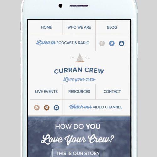 Curran Crew Custom WordPress Web Design by RKA ink