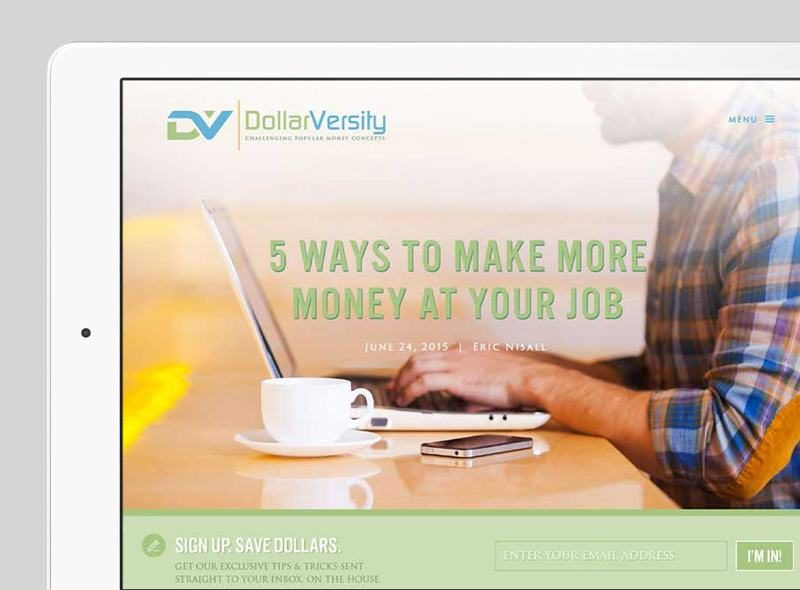 DollarVersity Custom WordPress Web Design by RKA ink