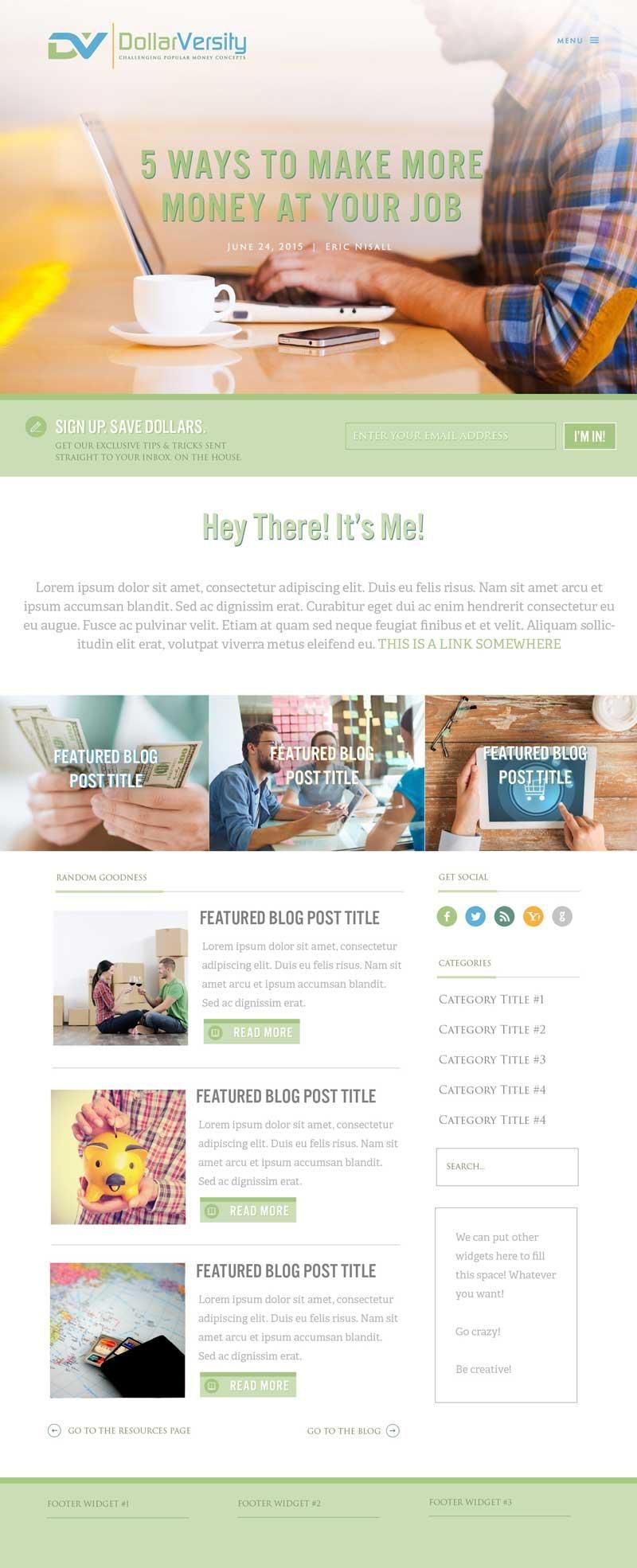 DollarVersity WordPress Web Design RKA ink