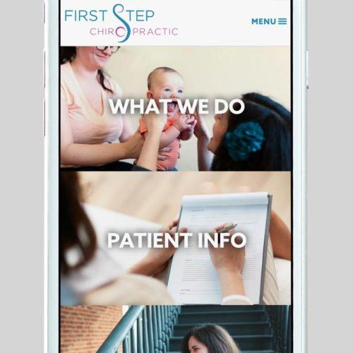 First Step Chiropractic Custom WordPress Web Design by RKA ink