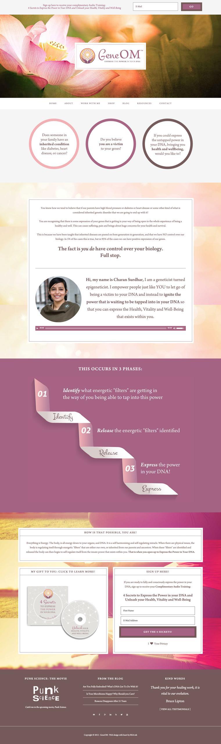 GeneOM Custom WordPress Web Design RKA ink