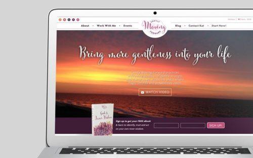 Gently Moving Forward Custom WordPress Web Design by RKA ink