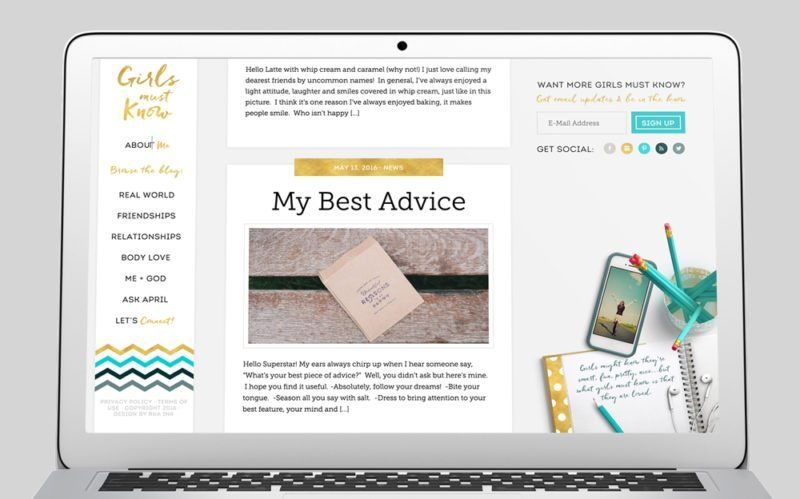 Girls Must Know Custom WordPress Web Design by RKA ink