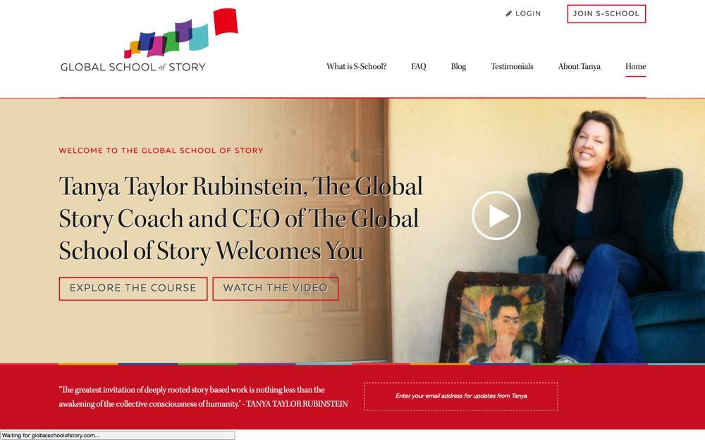 Global School of Story Custom WordPress Web Design RKA ink Genesis