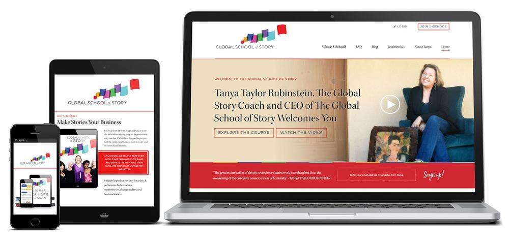 Global School of Story Custom WordPress Web Design RKA ink