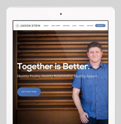Jason Stein Custom WordPress Web Design by RKA ink