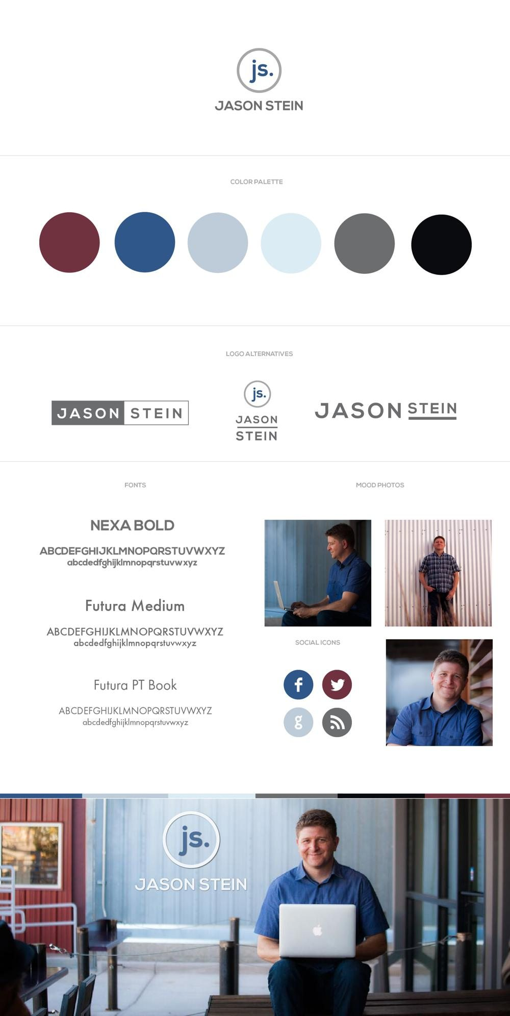 Jason Stein Identity Design RKA ink