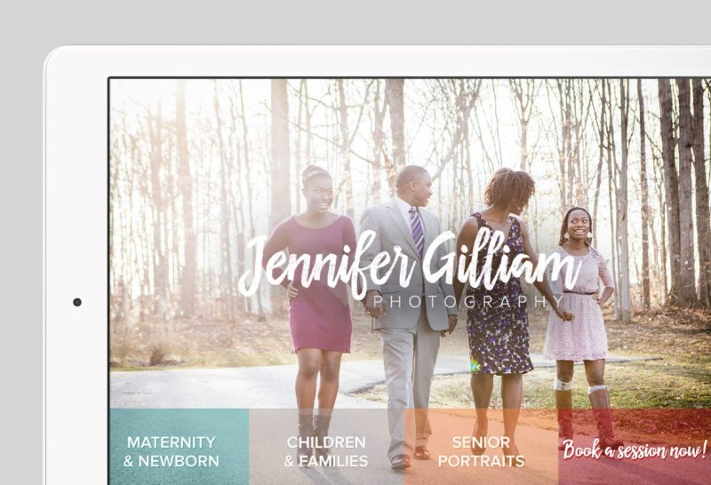 Jennifer Gilliam Custom WordPress Web Design by RKA ink