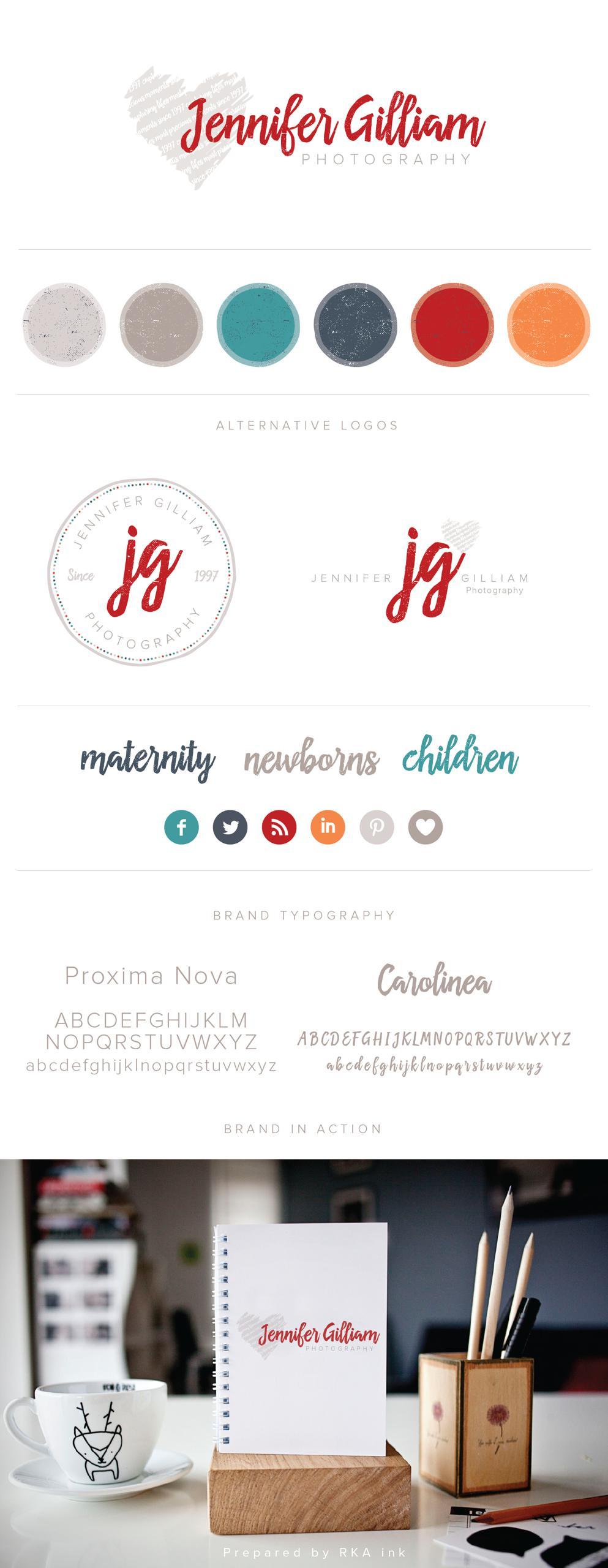 Jennifer Gilliam Identity Design RKA ink