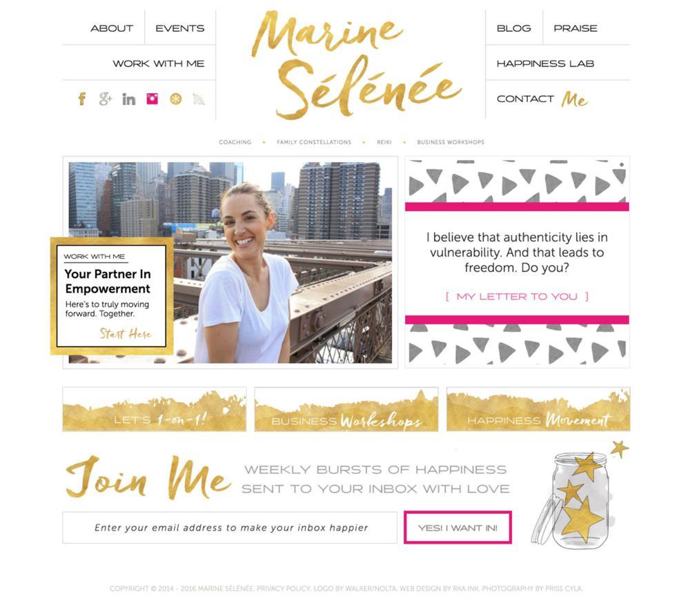 Marine-Selenee-Custom-Web-Design-RKA-ink