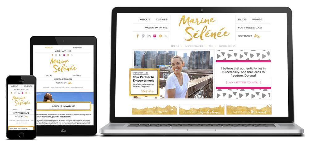 Marine Selenee WordPress Web Design Genesis RKA ink