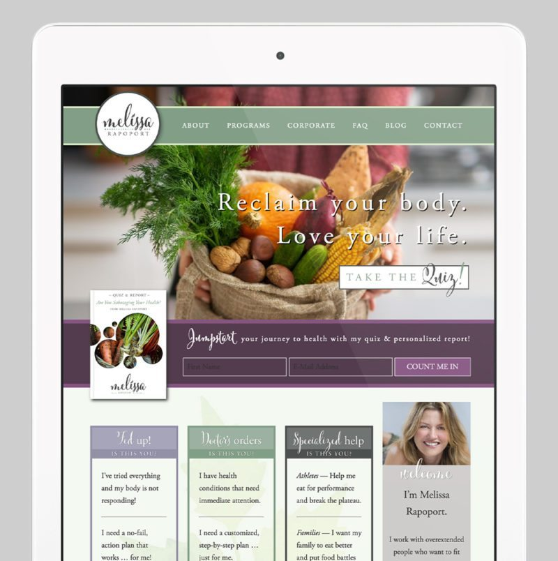 Melissa Rapoport Custom WordPress Web Design by RKA ink