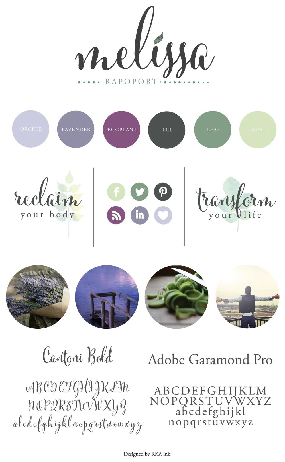 Melissa Rapoport Identity Design RKA ink