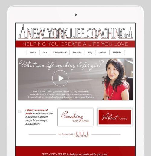 New York Life Coaching Custom WordPress Web Design by RKA ink
