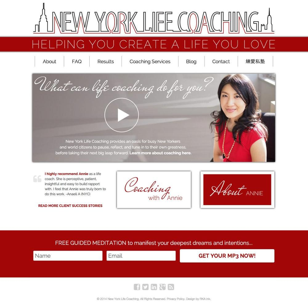 New-York-Life-Coaching-WordPress-Web-Design-RKA-ink