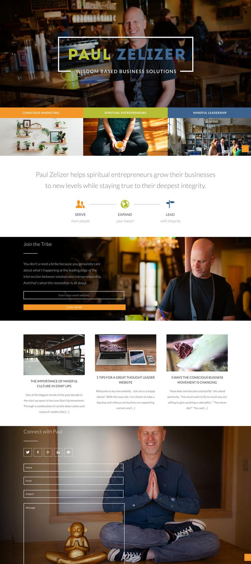 Paul Zelizer Custom WordPress Web Design RKA ink