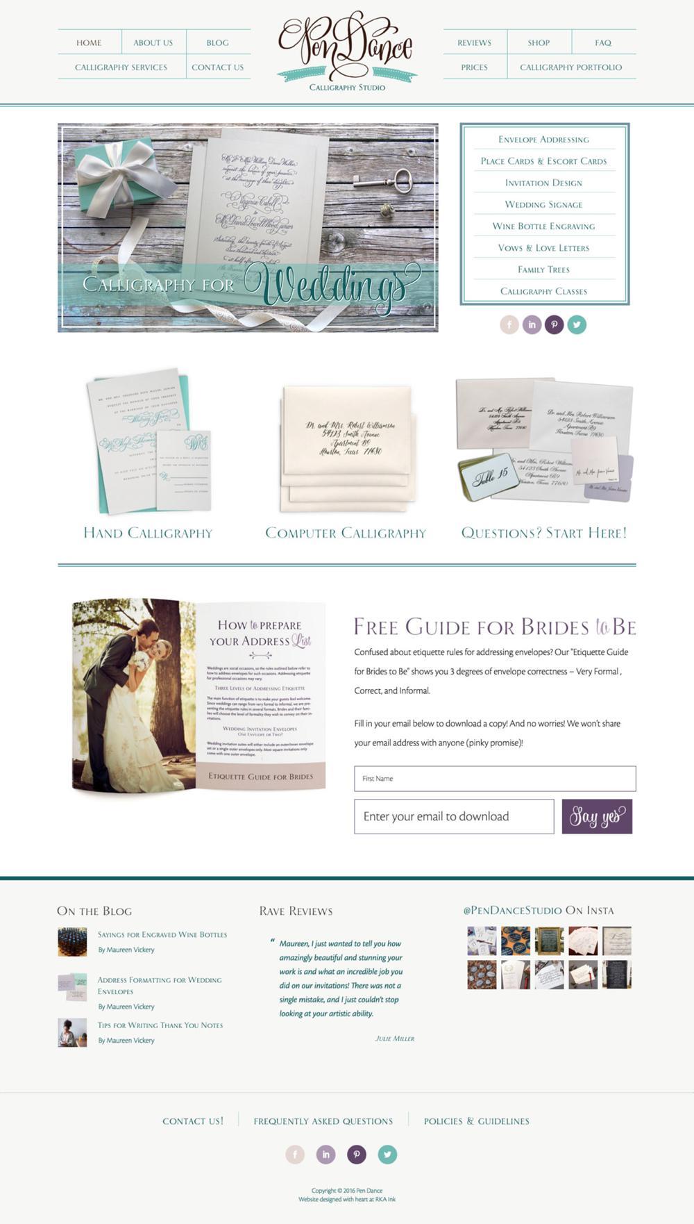PenDance-Calligraphy-Studio-Custom-WordPress-Web-Design-RKA-ink