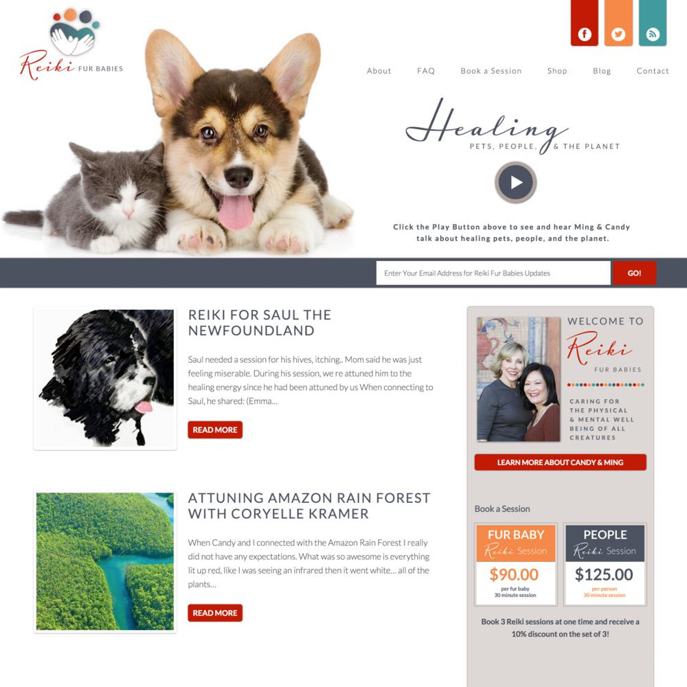 Reiki Fur Babies Custom WordPress Web Design RKA ink