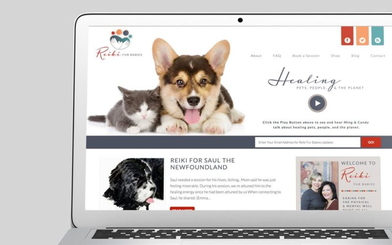Reiki Fur Babies Custom WordPress Web Design by RKA ink