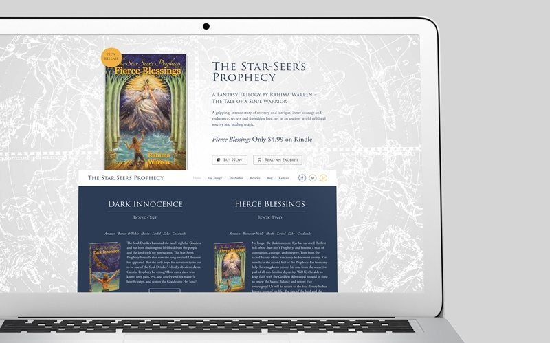 The Star Seer's Prophecy Custom WordPress Web Design by RKA ink