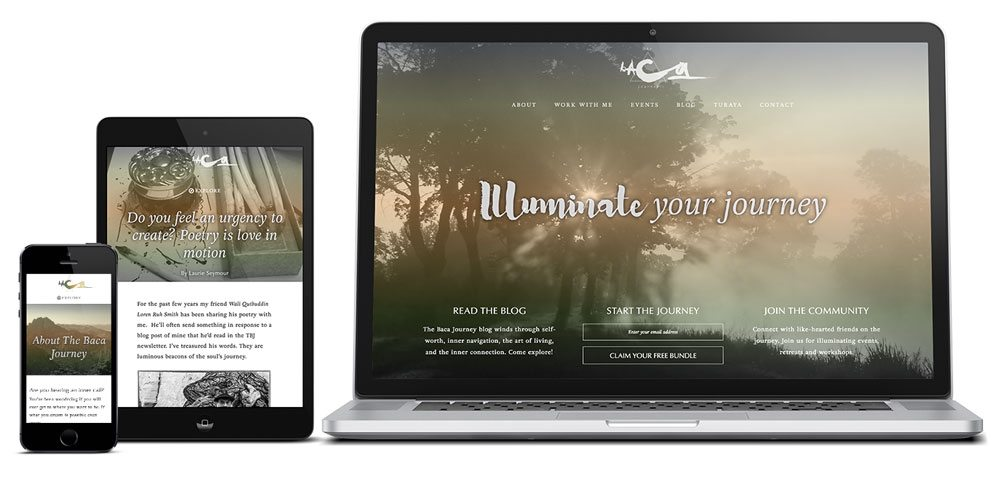 The Baca Journey WordPress Web Design on Genesis by RKA ink