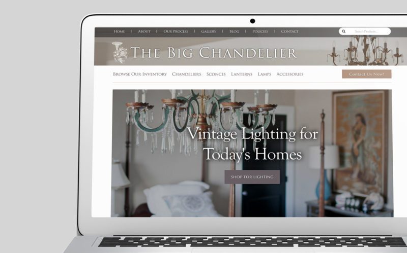 The Big Chandelier Custom WordPress Web Design by RKA ink