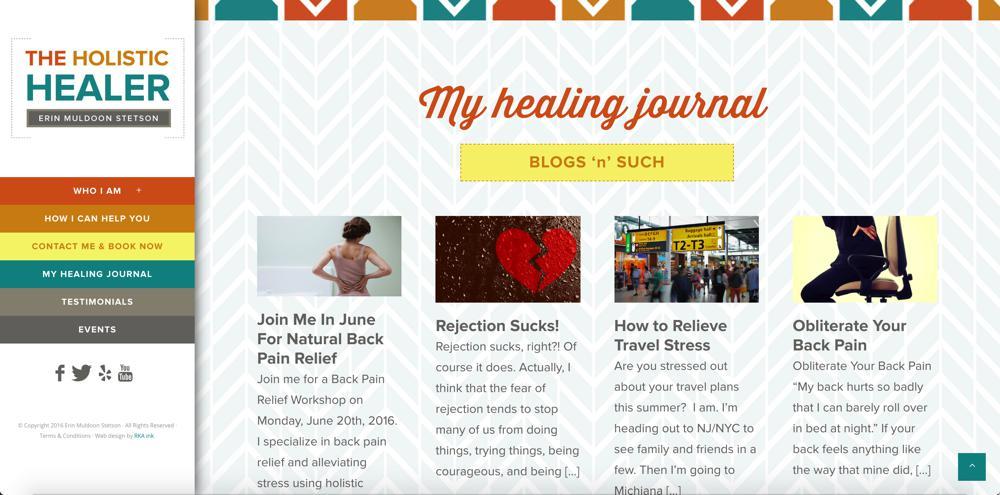 The Holistic Healer Web Design RKA ink