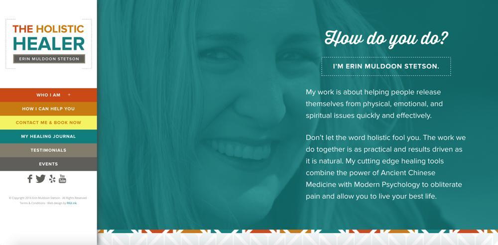 The holistic Healer Custom WordPress design rka ink