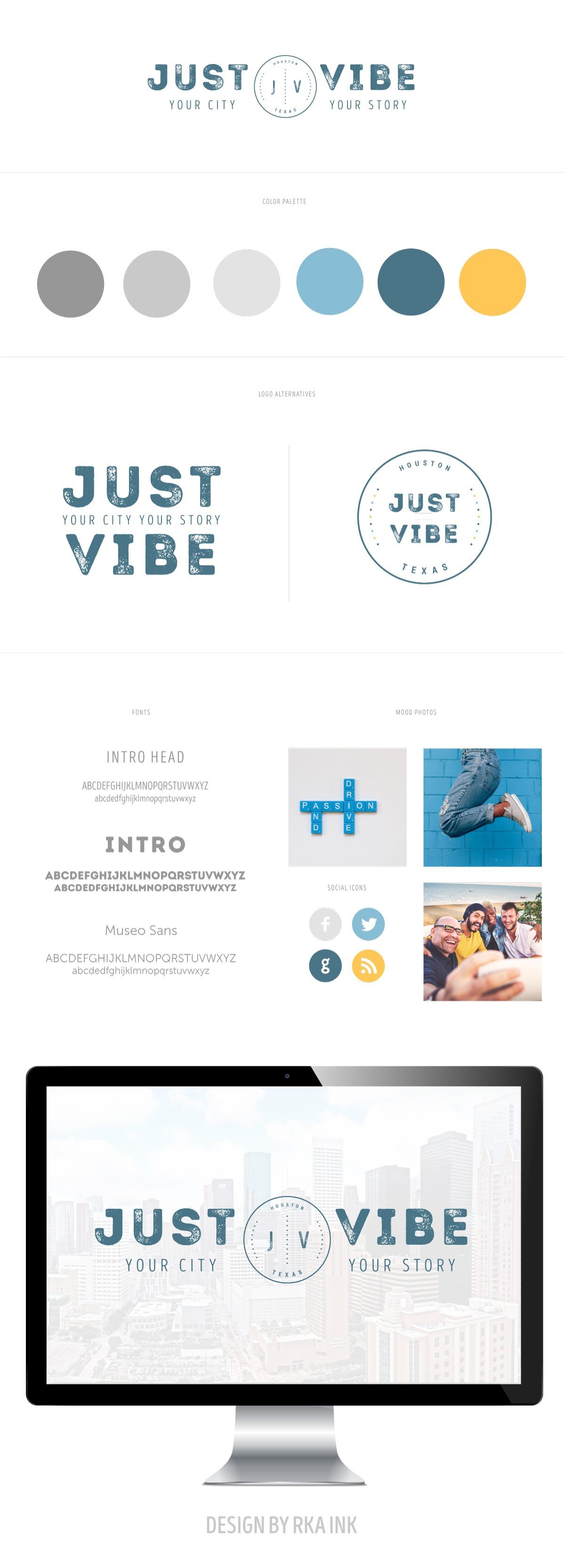Just Vibe Houston Visual Identity and Logo Design by RKA ink