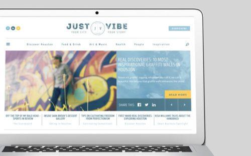 Just Vibe Houston WordPress Web Design by RKA ink